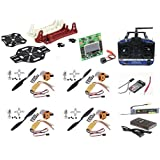 ApTechDeals QUAD-COMBO-01 Quad Copter Kit or Quadcopter Kit Quad Copter Combo Pack with 6 Channel Transmitter and Receiver 215