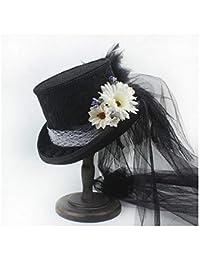 Philip Peacoc Victorian Gothic Steampunk Hat Wedding Top Hat Off White  Ivory Hat Rhinestone Gala Hat af1ad8236c50