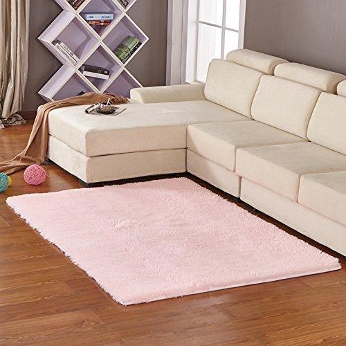 qwer Las gruesas alfombras suaves con simple y moderno salón dormitorio mesita lateral personalizable alfombras tatami ,2.0x3.0 ,3,0 m de luz de color rosa
