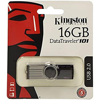 Kingston Data Traveler 101 G2 16 GB USB 2.0 Flash Drive - Black