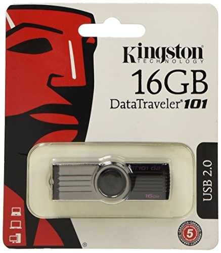 Kingston DataTraveler 101 G2 16 GB USB 2.0 Flash Drive - Black