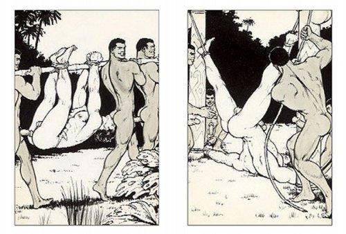 Homo pornoa suihkussa