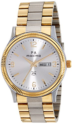 Maxima Analog Silver Dial Men's Watch - 45242CMGT