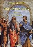 Ante Omnia Terra, tome 1 : La Théorique..