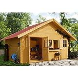 Woodfeeling Gartenhaus Radur 1 28 mm 2-Raum-Haus