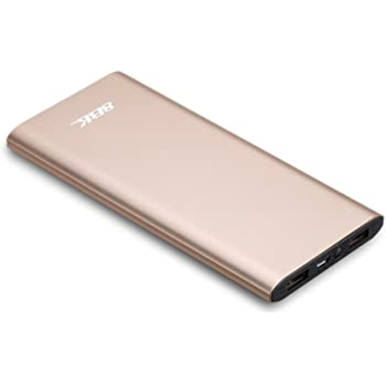 8BK Metallic Ultra Slim Lightweight Power Bank (Golden), Scratch and Dust Proof 10000 mAh - 870-10S