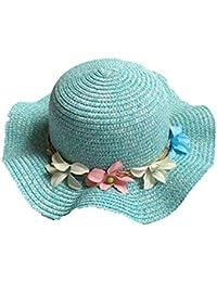 8940532a66644 SLLY Sombrero de Pescador Verano a Cuadros Pescador Sombrero niña Protector  Solar Visera Malla Transpirable