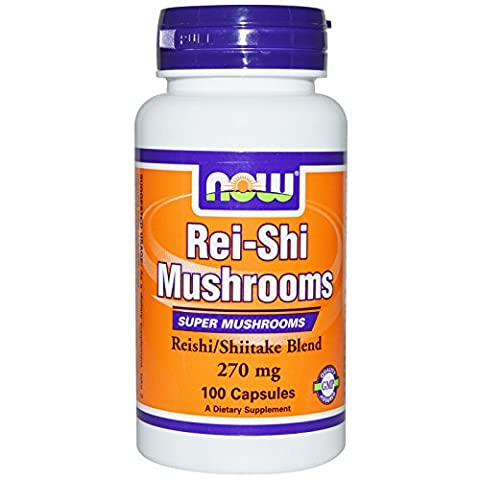 Rei-Shi Mushrooms, 270 mg, 100 Capsules - Now Foods - Qty 1