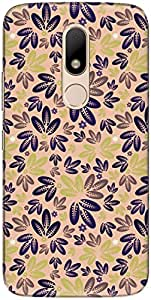 The Racoon Lean printed designer hard back mobile phone case cover for Motorola Moto M. (Purple Lea)