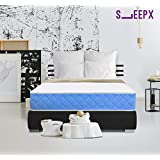 SleepX Exceller Memory Foam Luxury Pocket Spring Mattress - (72x36x8 Inches) with Free Pillow