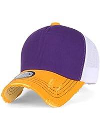 ililily Vintage Distressed Mesh Snapback Blank Trucker Hat Baseball Cap