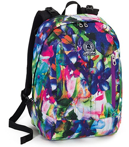 Mochila EXPANSIBLE - INVICTA Twist - Sign - Azul Rosa Verde 26Lt