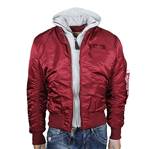 Alpha Industries Herren Jacke Burgundy