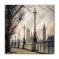 London Bandana, Parliment Houses and Big Ben, Unisex Head and Neck Tie,Unisex Bandana Head and Neck Tie Neckerchief Headdress Silk-Like 100% Polyester -M