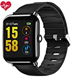 OUKITEL W2 Smart Watch, Fitness Smartwatch HD Touch Screen Bluetooth Smart Bracelet with Pedometer Heart Rate Sleep Monitor and Smart Notifications Compatible with Android and iOS