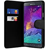 Best Note4 Cases - Xylo Black Leather Wallet Style Case/Cover/Skin for the Review