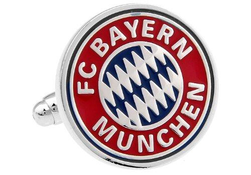 FC Bayern Munchen Manschettenknöpfe Star Cufflinks Manschettenknöpfe mit Markenlogo