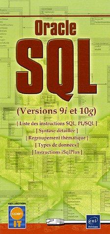 Oracle SQL : Versions 9i et 10g