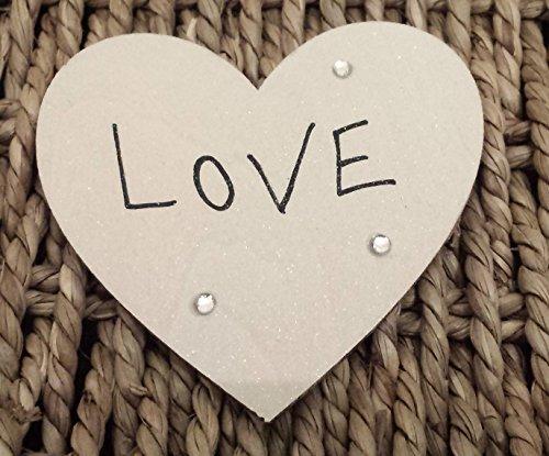 Personalizzato regalo di San Valentino 'Love' Magnete cuore in legno per mum-girlfrien...