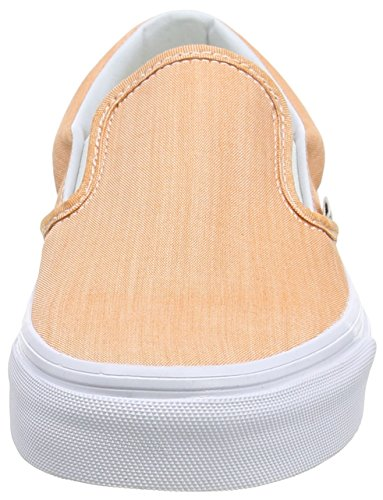 Vans Unisex-Erwachsene Classic Slip-On Sneakers Orange (chambray/coral/true White)