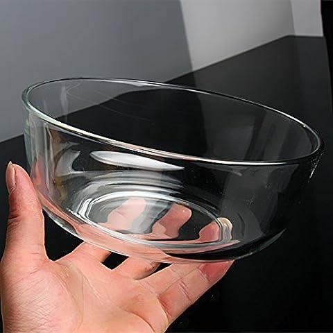Yifom chiaro ciotola di vetro con insalata