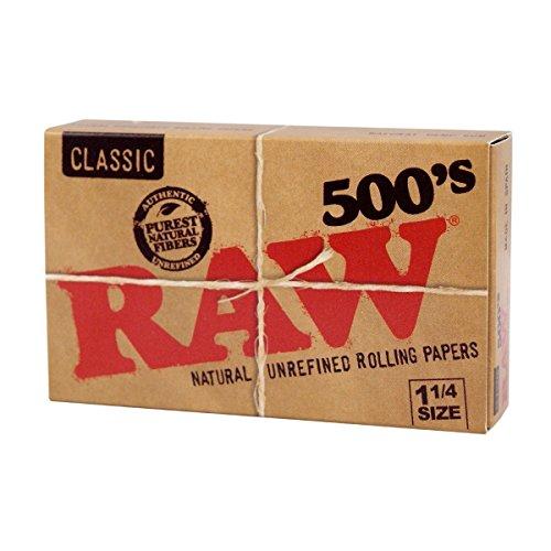 Carnet / Feuilles à Rouler Classic RAW 500's 1.1/4 500 Feuilles (75x45mm)