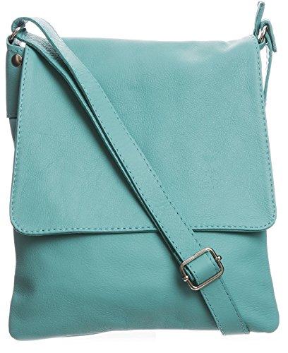 Big Handbag Shop - Borsa a tracolla donna (Turquoise (FZ574))