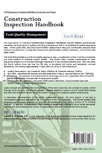 Construction Inspection Handbook: Total Quality Management