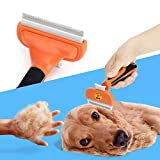 Hundebürste Katzenbürste Hunde-Pflegewerkzeug zur Fellpflege Unterwollbürste Unterfellbürste Hundefellpflege zur Einfachen Entfernung von Losen Haaren und Unterwolle MEHRWEG - 4
