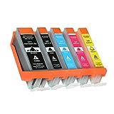 5 Druckerpatronen Kompatibel für Canon PGI-550 CLI-551 XL mit Chip