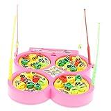 Baoblaze Elektrisches Angelnspiel mit Fische Tiermodell & Angelruten, Musikalisches Fischenspielzeug Baby Kinder Angeln Rollenspielzeug - # 4