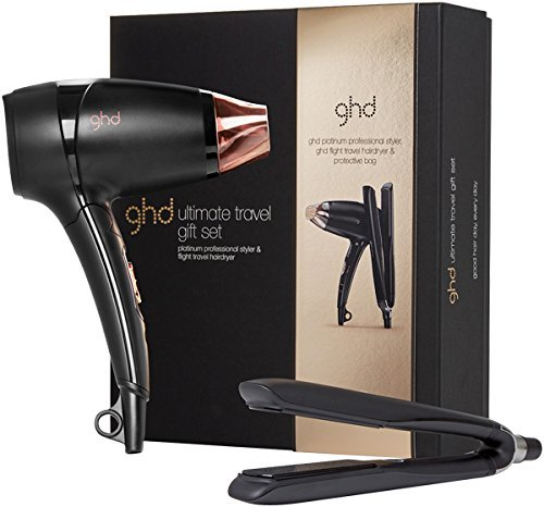 GHD Limited Edition Ultimate Travel Gift Set Platinum Glätteisen + Flight Reisehaartrockner
