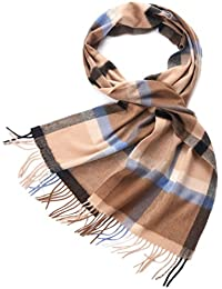 ZORJAR Pure Cashmere Scarf Wrap Stole Shawl In Plaid Design For Man Or Women (10#)