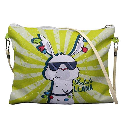 1x Umhängetasche - Llama gelb | Lama Geschenk | Geschenk für Freundin | Lama Tasche | Tasche mit Spruch | lustige Geschenke | mit Motiv | Preis am Stiel®