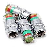 4 X Indicador de Presión Tapón Antipolvo Válvula Sensor de Neumático para Coche Auto