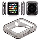 #9: Oaky - Apple Watch 42mm Case Series 1/2/3 [Lightweight Fit] Soft TPU Candy Skin [Anti-Shock] Ultra-Thin Protective Bumper Case Cover Compatible with iWatch 42mm Case for Series 1, Series 2 , Series 3 [Grey]