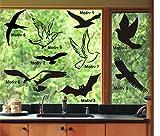 Fenster Aufkleber Fensterbild Vögel Vogel Warnvögel Wintergarten Farb+Motivwahl 10 Stück in 33 Farben matt oder glänzend