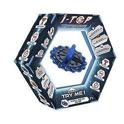 Goliath 85252 - i-Top Meca-Gear Blau, Kreisel mit elektronischem Zählwerk und LED Anzeige, viele spannende Spielmodi und Effekte, Knacke den Highscore, Kompass-Modus, ab 8 Jahren