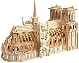 Hifuture Notre Dame de Paris Modelo 3D Puzzle Bloque de Madera ensamblado, Artesanía de Madera, París, Francia Catedral de Notre Dame, Decoración del hogar y colección de Arte