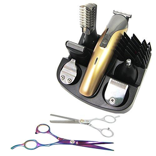 Preisvergleich Produktbild Haarschneidemaschine Geschenk Trimmer Body Set Haarschneider + Effilierschere+Schere Geschenkidee
