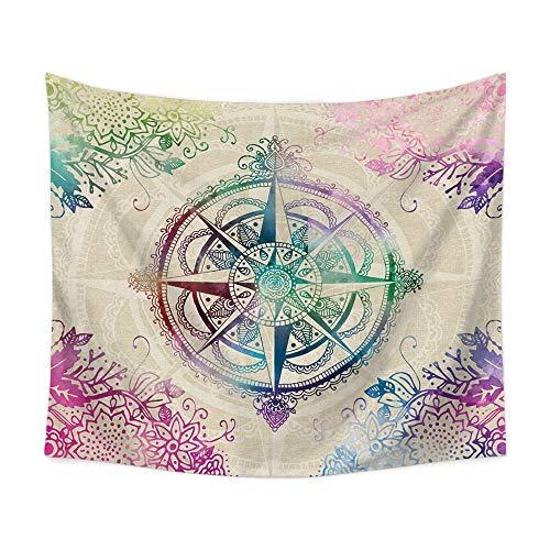 Houheng Tapices Tapiz de Pared Hippie Bohemio Colorido Mandala Tapestry Picnic Playa Colcha Mantel Cortina...