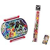 Pokemon Plastics Lunch Box And 2 Red Pencils And Eraser