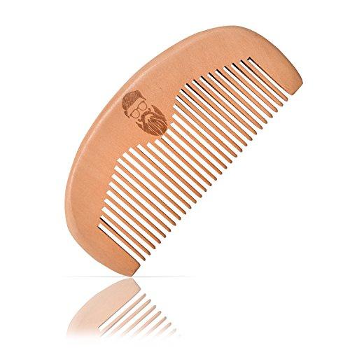 Schillerbach Bart Kamm aus Holz – antistatischer Holz Kamm für echte Männer aus Pfirsichholz – Taschenkamm für die perfekte Bartpflege (Braun)
