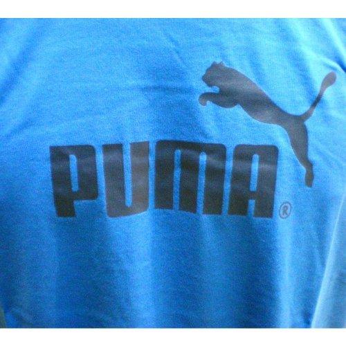 PUMA Herren T-Shirt Large No.1 Logo Tee Victoria Blue