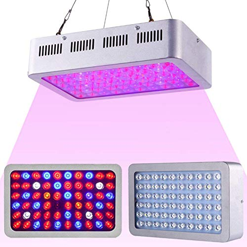 Full Spectrum Reflektor (NANANA Pflanzenlampe Zimmerpflanzen Reflektor, 600W Full Spectrum Growing Lampe mit Dual Chip für Hydroponische Zimmerpflanzen Vegetativ und Flower, Silber)