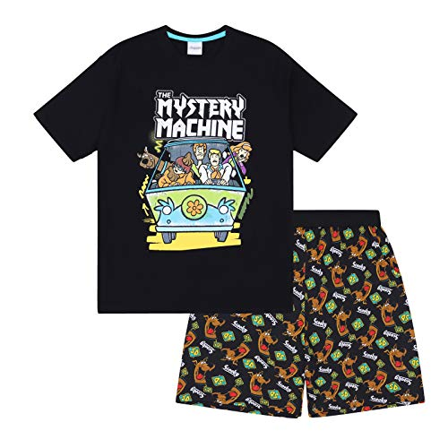 Scooby-DOO - Jungen Schlafanzug - kurz - mit Mystery-Machine-Motiv - offizielles Merchandise - Geschenk - 10-11Jahre