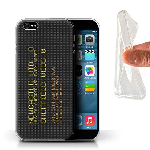 Offiziell Newcastle United FC Hülle / Gel TPU Case für Apple iPhone 6S+/Plus / Pack 7pcs Muster / NUFC Berühmte Fußball Ergebnis Kollektion 1999