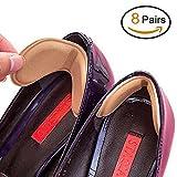 Talón de las plantillas del zapato evitar rozaduras talón de los zapatos de tacón engomadas de Ajustes de la longitud del zapato del tacón Zapatos de ratones (8 Pares)