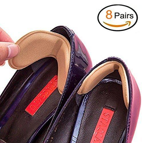 EQLEF 4 Pairs Shoe Heel Insoles Prevent Rubbing Heel Shoes Heel Stickers Adjustments The Shoes Length Shoe Heel Pad