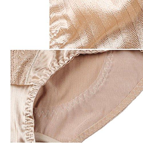 Mittlere Taille Frau Heben Die Hüften Weich Bequem Gesundheit Baumwolle Körperformung Unterwäsche 2 Stück Black+Beige